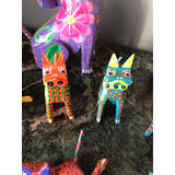 1970s Mexican Cat Alebrijes - Set of 9 - FREE SHIPPING!