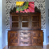 1970s Mexican Handmade Wooden Hutch and Buffet - FREE SHIPPING!