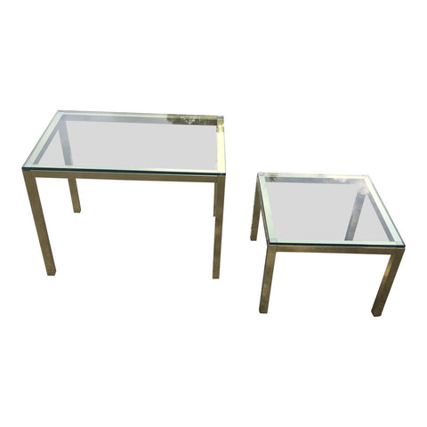 1970s Mid Century Modern Nesting Tables - Set of 2 - FREE SHIPPING!