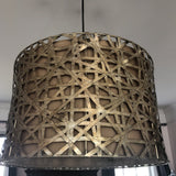 1970s Modern Graphic Pendant Light - FREE SHIPPING!