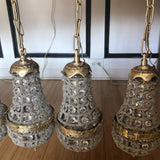 1970s Pendant Cluster Chandeliers - Set of 5 - FREE SHIPPING!