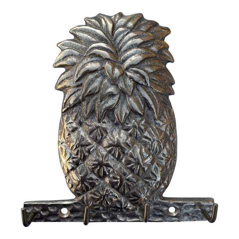 1970s Petite Pineapple Brass Key Mask Hook - FREE SHIPPING!