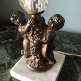 1970s Small Cherub Table Lamp on Marble - FREE SHIPPING!