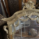1970s Solid Brass Garland and Acanthus Mirror - FREE SHIPPING!