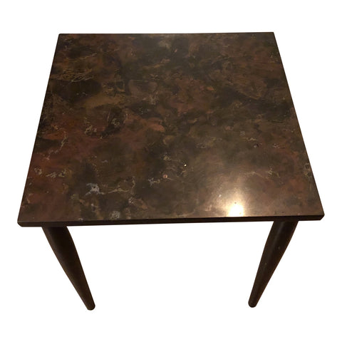 1970s Traditional Faux Marble Side Table - FREE SHIPPING!