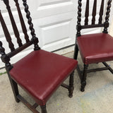 1970s Turned Wooden Chairs** - A Pair - FREE SHIPPING!