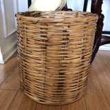 1970s Vintage Bamboo Reed Handwoven Basket - FREE SHIPPING!