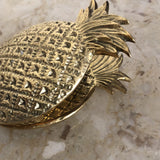 1970s Vintage Brass Pineapple Clip - FREE SHIPPING!