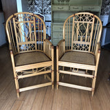1970s Vintage Brighton Bamboo Chinoiserie Chairs** - a Pair - FREE SHIPPING!