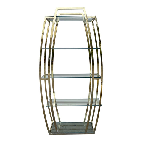 1970s Vintage Chrome Art Deco Shelf Etagere** - FREE SHIPPING!