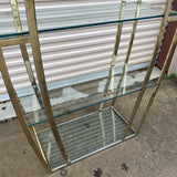 1970s Vintage Chrome Art Deco Shelf Etagere - FREE SHIPPING!