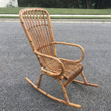 1970s Vintage Franco Albini Bamboo Rocking Chair - FREE SHIPPING!