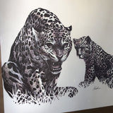 1970s Vintage Kushner South American Jaguar Print - FREE SHIPPING!