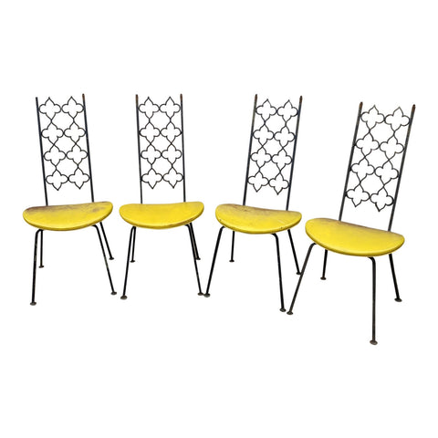 1970s Vintage Salterini Metal Chairs - Set of 4 - FREE SHIPPING!