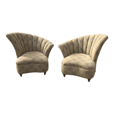 1970s Vintage Shell Club Chairs** - a Pair - FREE SHIPPING!
