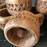 1970s Vintage Wooden Napkin Rings - Set of 8 - FREE SHIPPING!