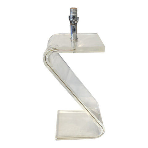1980s Lucite Z Table Lamp - FREE SHIPPING!