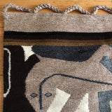 1980s Modernist Reptile Handwoven Tapestry  FREE SHIPPING!