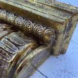 1980s Neoclassical Gilded Ceramic Wall Bracket - FREE SHIPPING!
