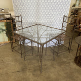 1990s Phyllis Morris Style Bamboo Outdoor Dining Set - FREE SHIPPING!
