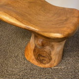 1990s Vintage Solid Wood Foot Stool - FREE SHIPPING!