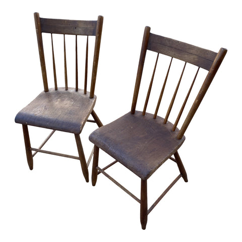 Antique Americana Wooden Chairs - a Pair - FREE SHIPPING!