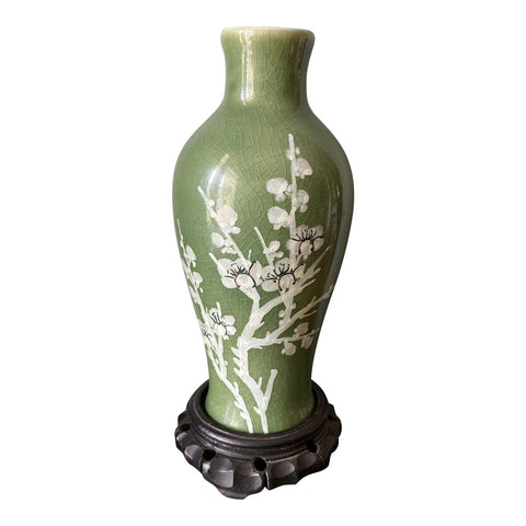 Antique Asian Stamped Vase With Stand** - FREE SHIPPING!