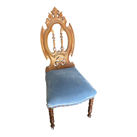 Antique Blue French Accent Chair** - FREE SHIPPING!