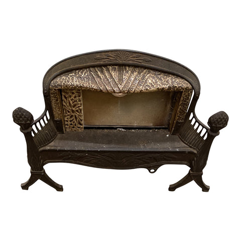 Antique Iron Fire Place With Art Deco Details - FREE SHIPPING!