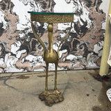 Art Nouveau Crane Bronze Bird Table With Glass** - FREE SHIPPING!