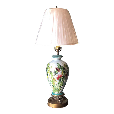 Asian Flower Lamp With Dolphin Base - FREE SHIPPING!