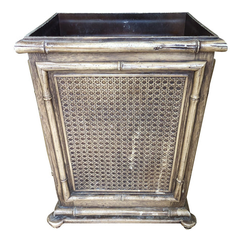 Bamboo Brown Waste Basket - FREE SHIPPING!