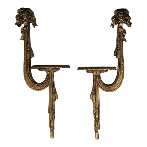 Baratta Style Gold Tassel Sconces - a Pair - FREE SHIPPING!