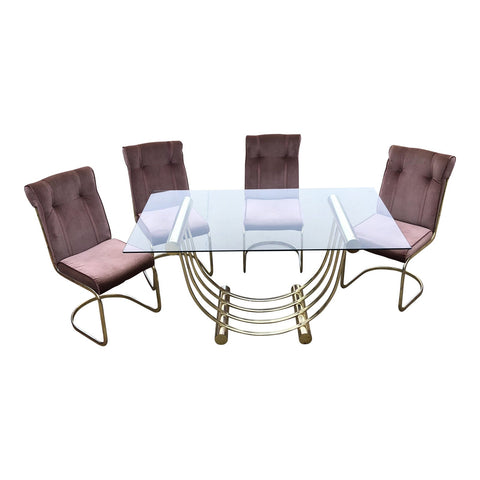 Blush Pink Geometric Dining Set - Set of 5 - FREE SHIPPING!