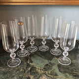 Bohemia Czechoslovakia Collection of Champagne Glasses** - Set of 6 - FREE SHIPPING!