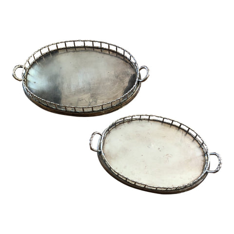 Brass Golden Nesting Trays - a Pair - FREE SHIPPING!
