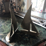 Brass Nautical Sailboat Bookends** - a Pair - FREE SHIPPING!