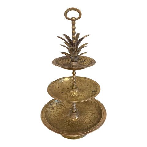 Brass Pineapple Tray With Three Levels** - FREE SHIPPING!