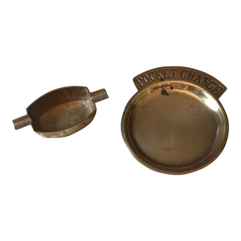 Brass Pocket Change Catchalls - a Pair - FREE SHIPPING!