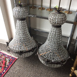 Bronze Colored Empire Chandeliers - A Pair - FREE SHIPPING!