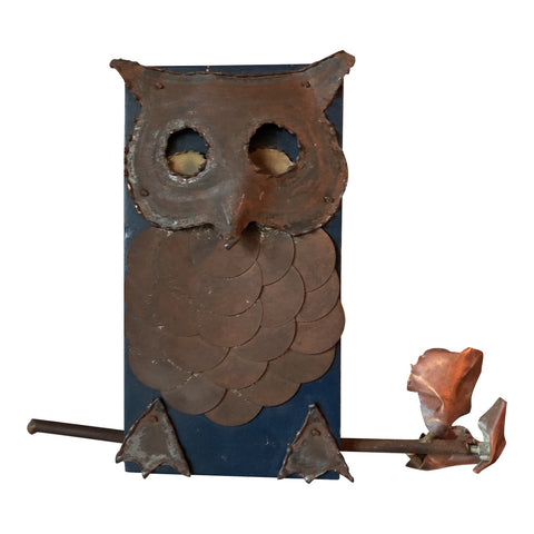 Brutalist Owl Wall Sculpture - FREE SHIPPING!