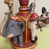 Camel Elephant Wooden Circus Table Lamp - FREE SHIPPING!