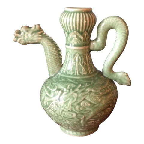 Celadon Asian Vase** - FREE SHIPPING!