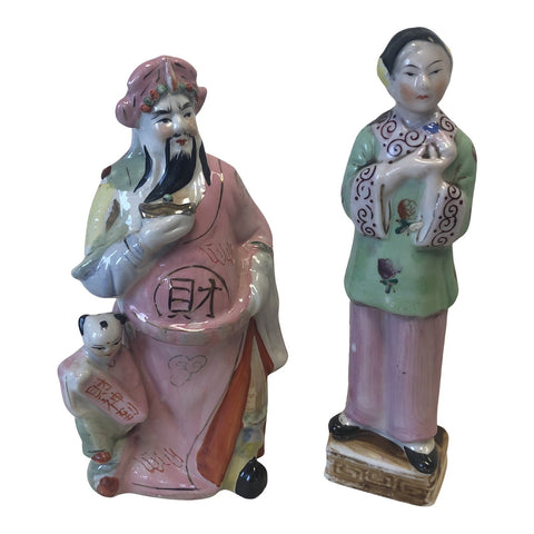 Ceramic Chinoiserie Sculptures** - A Pair - FREE SHIPPING!