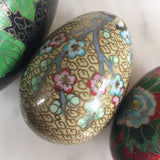 Chinese Chinoiserie Cloisonné Enamel Eggs - Set of 4 - FREE SHIPPING!