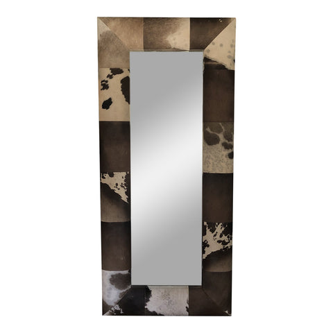 Cowhide Floor or Wall Mirror** - FREE SHIPPING! (#0019)