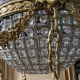 Crystal and Brass Hot Air Balloon Chandelier** - FREE SHIPPING!