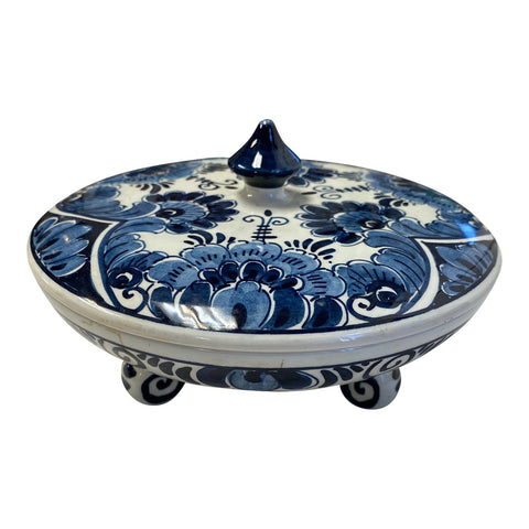Delft Holland Blue and White Footed Dish - FREE SHIPPING!