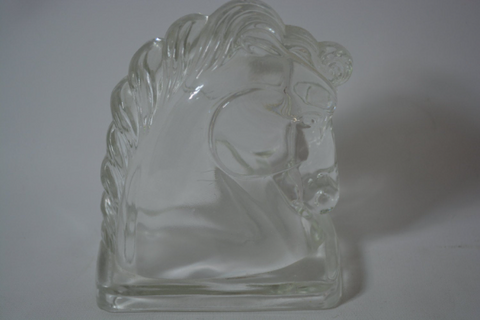 Mid Century Glass Horse Sculptural Bookend - FREE SHIPPING!
