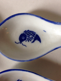 Blue and white chinoiserie spoons - Set of 4 - FREE SHIPPING!